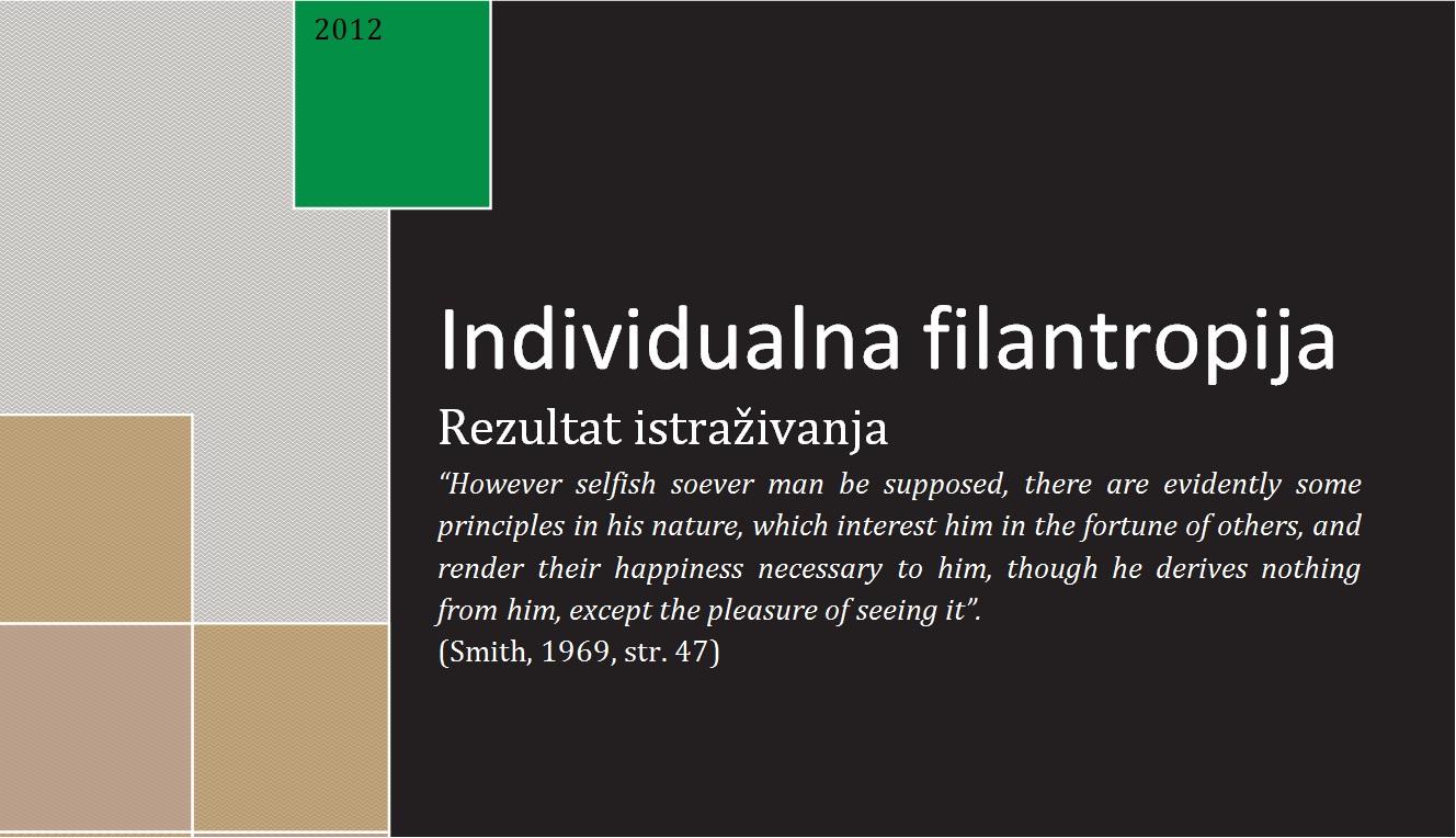 """Prezentacija istraživanja """"Individualna filantropija u Crnoj Gori"""""""