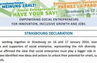 Strazburška deklaracija o društvenom preduzetništvu