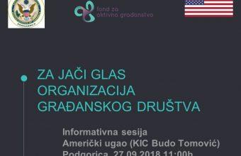 Prezentacija grant programa – četvrtak 27.septembar u 11:00h